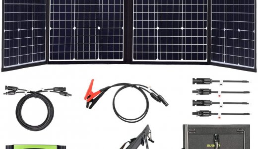 suaokiソーラーチャージャー160W折りたたみ式はどのくらい発電できる?スペックや充電にかかる時間などを解説いたします